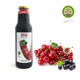 Вишна и арония плодов сироп със захар
